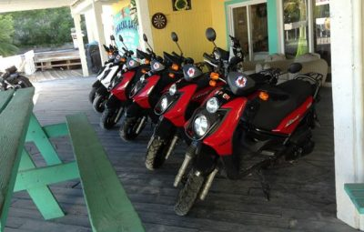 Rent a motorcycle on Providenciales - Scooter Bobs car rentals Turtle Cove