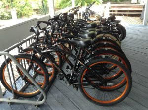 Beach Cruiser bicycles for rent on Providenciales